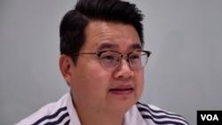 香港民主黨副主席尹兆堅。(美國之音湯惠芸拍攝)