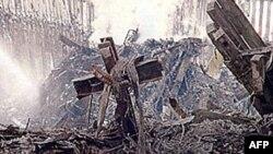 На месте терактов 11 сентября