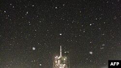 Апарат Союз TMA-22 перед пуском з космодрому Байконур.