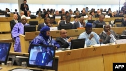 Delegates participate at the Donor Conference for development in Mali at the EU Headquarters in Brussels, May 15, 2013.