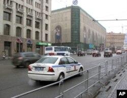 大示威當天莫斯科市中心街頭,附近是聯邦安全局總部和著名商店