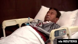 Pervez Musharraf, Pakistan's former president, speaks from a hospital bed in Dubai, United Arab Emirates December 18, 2019 in this still image taken from video. All Pakistan Muslim League (APML) Handout/Reuters TV via REUTERS THIS IMAGE HAS BEEN…