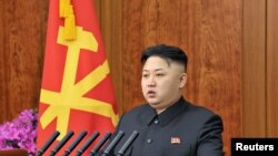 2013 신년사를 하는 김정은 국방위원회 제1위원장 모습(자료사진)