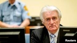 Radovan Karaciç Lahey'deki Uluslararası Savaş Suçları Mahkemesi'nde