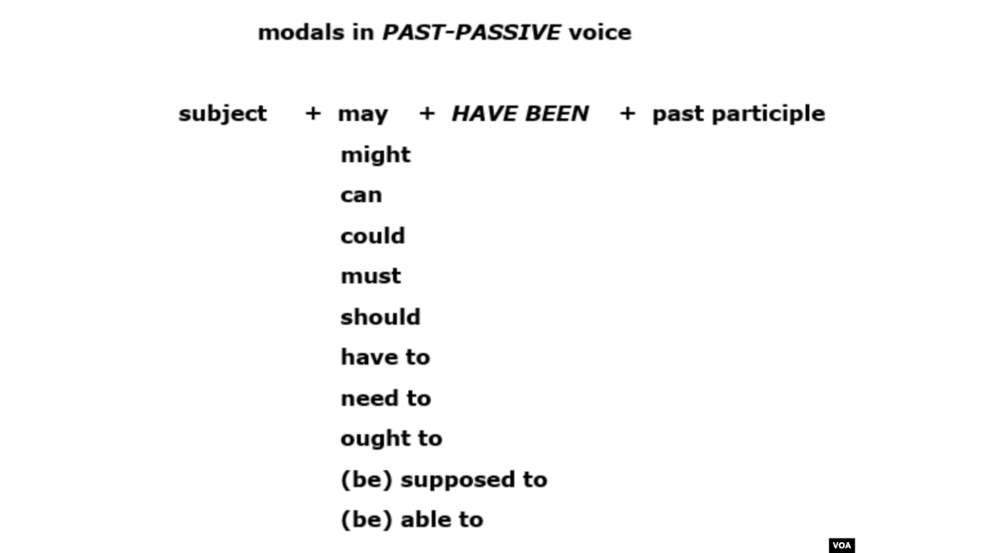 Learning Passive Modals: It Can Be Done!