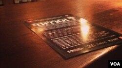 В одном из баров на Никитском бульваре состоялось художественное чтение романа Владимира Сорокина «Теллурия»