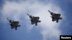 미 공군의 최신예 F-22 스텔스 전투기. (자료사진)