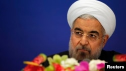 FILE - Iran's President Hassan Rouhani.