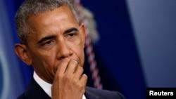 Predsednik Barak Obama obraća se novinarima posle odluke Vrhovnog suda