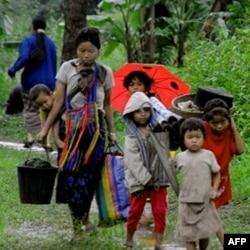 File photo of Burmese refugees