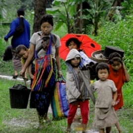 File photo of Burmese refugees