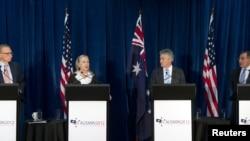 帕內塔與希拉里‧克林頓星期三一起出席美澳年度防務高峰會議