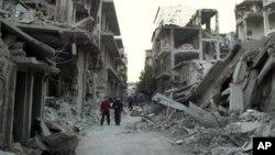 Esta semana la fuerza aérea del régimen sirio volvió a bombardear la ciudad de Homs.