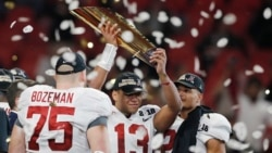 VOA Game Room - A new, and familiar college football champion, Olympics and South African golf