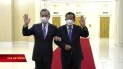 Ông Vương Nghị tới Campuchia, loan báo viện trợ hàng trăm triệu đô