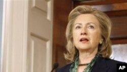 빈 라덴의 사망 소식 후 성명을 발표하는 힐러리 클린턴 미 국무장관