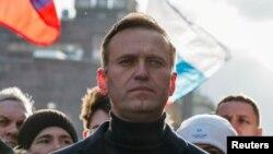 29 Şubat 2020 - Rus muhalif siyasetçi Alexei Navalny'nin Moskova'da katıldığı mitingden bir kare