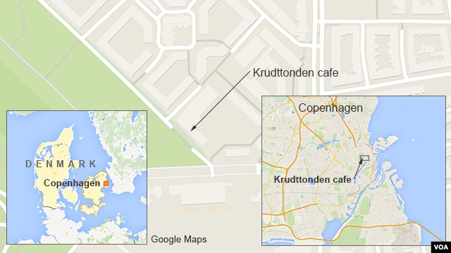 map locating Krudttonden , copenhagen, denmark