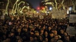 تظاهرات اعتراض به قانون اساسی جديد در مجارستان