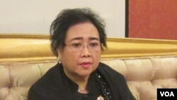 Rachmawati Soekarnoputri ditahan oleh Polda Metro Jaya atas tuduhan makar. (VOA/Andylala Waluyo)