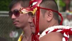 亚洲规模最大的同性恋游行星期六在台北举行