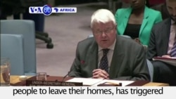 VOA60 Africa - CAR:Violence in certain parts of the country has triggered the necessity for international humanitarian assistance