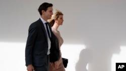 Ivanka Trump et son mari, Jared Kushner, conseiller du président, à la Maison Blanche, le 10 février 2017.