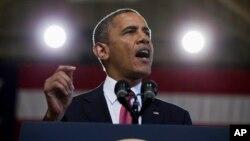 Tổng thống Mỹ Barack Obama nói chuyện với các Thủy Quân Lục Chiến tại trại Pendleton ở California, 7/8/2013