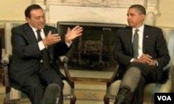 Husni Mubarak u Bijeloj kući sa predsjednikom Barackom Obamom