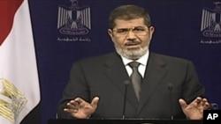 El ahora ex presidente Morsi en su última declaración pública como mandatario de Egipto el pasado martes 2 de julio.