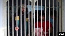 Prisonniers talibans dans une prison à Kaboul en Afghanistan le 14 décembre 2019.