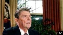 El presidente Ronald Reagan pronunció un emocionado discurso tras conocerse la tragedia del Challenger.