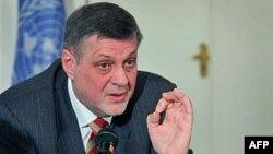 Новий спеціальний посланник ООН до Афганістану Ян Кубіш під час прес-конференції у Кабулі