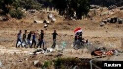 Ala Sûrî li ser sînorê Golan