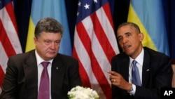 奧巴馬曾經於今年六月與波羅申科會面(資料圖片)