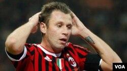Pemain AC Milan dan timnas Italia, Antonio Cassano (foto: dok).