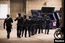 2015年2月15日丹麦警方在哥本哈根封锁区