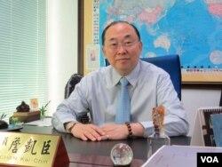 台湾执政党国民党立委詹凯臣(美国之音张永泰拍摄)