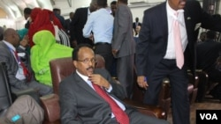 The new Somali president Mohamed Abdullahi Farmajo