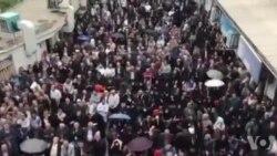 شعار کارگران ایرانی در روز کارگر: مرگ بر ستمگر، درود بر کارگر