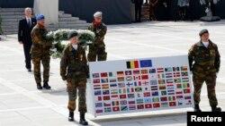 Quốc vương Bỉ Philippe dự lễ đặt vòng hoa kỷ niệm 100 năm Thế chiến Thứ nhất tại Liege.