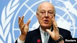 Đặc sứ Liên Hiệp Quốc về Syria Staffan de Mistura tại cuộc họp ở Geneva ngày 25/1/2016.
