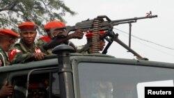 Polisi militer melakukan patroli di Kinshasa, Ibukota Republik Demokratik Kongo (foto: ilustrasi).