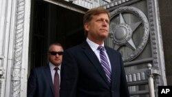 美國駐俄羅斯大使邁克爾·麥克福爾(資料照片)