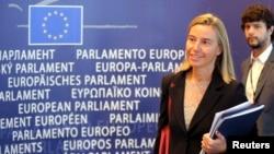 Italijanska šefica diplomatije, Federika Mogerini u Evropskom parlamentu, 2. septembar 2014.