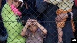 Des réfugiés en Hongrie le 4 septembre 2015. (AP Photo/Petr David Josek)