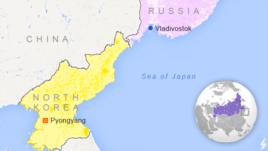The North Korea-Russia border