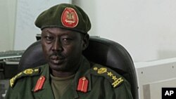 FILE - SPLA spokesman Philip Aguer.