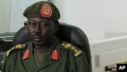 南苏丹军方发言人阿古尔(资料照片)