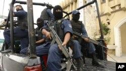 Cảnh sát Mexico tuần tra tại thành phố biên giới Reynosa.